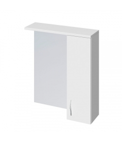 Зеркало-шкафчик Erica 60 c подсветкой, белый