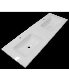 Умывальник двойной 1500х500 (белый) PHOENIX STONE